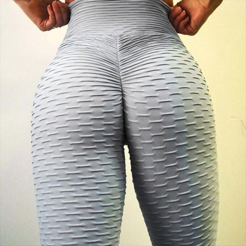 2019 pantalons de Yoga Sexy Leggings de Sport taille haute Push Up Fitness Slim Gym collants de course noir d'entraînement pantalons de Sport Leggings de Yoga