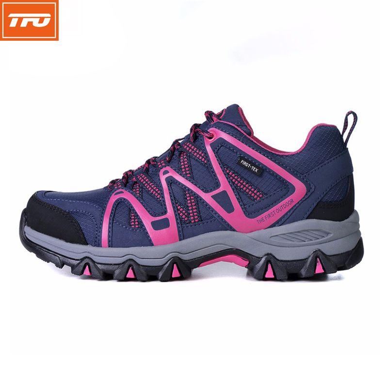 Tfo женщины кроссовки легкие спортивная обувь открытый водонепроницаемый женский восхождение обувь для ходьбы дышащий фиолетовый кроссовк...