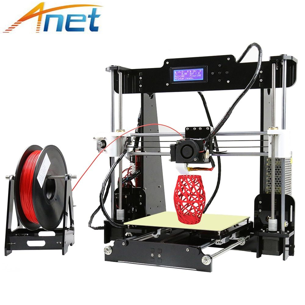 Anet Autolevel A8 3D Printer DIY 3D Printer Reprap i3 Big Printing Size High Precision with Filament+8GB SD Card+Tools Cheap