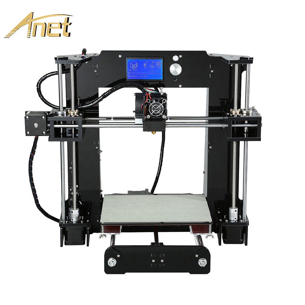 Anet A6 A8 Impresora 3D Imprimante Facile Assembler avec Auto Nivellement grande taille De Noël cadeaux Reprap i3 bricolage Imprimantes SD Carte