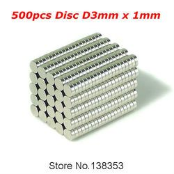 500 pcs vrac Small Round NdFeB néodyme disque Magnets Dia 3 mm x 1 mm N35 Super puissant forte Rare Earth aimant NdFeB