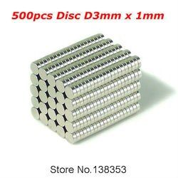 500pcs Bulk Small Round NdFeB Neodymium Disc Magnets Dia 3mm x 1mm N35 Super Powerful Strong Rare Earth NdFeB Magnet