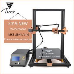 TEVO Tornado Komplett Montiert 3D Drucker Impresora 3D Voll Aluminium Rahmen mit Titan Extruder Große Druck Bereich MKS GEN L v1.0