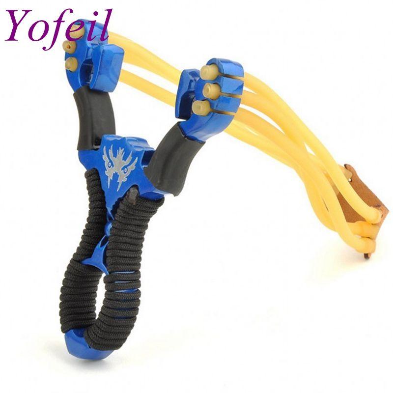 2 color Rojo Azul Wolverine slingshot aleación de acero inoxidable al aire libre caza y pesca juguetes nostálgicos