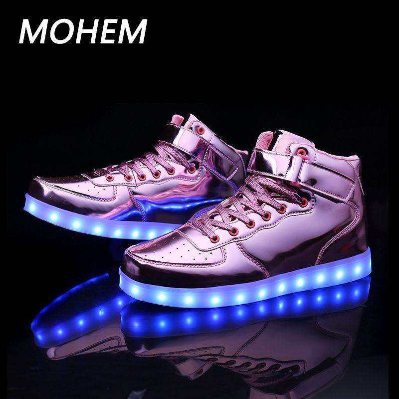 7 цветов обувь со светящимися вставками для мальчиков и девочек мода загораются свободного покроя Детская Верхняя детская обувь спортивная...