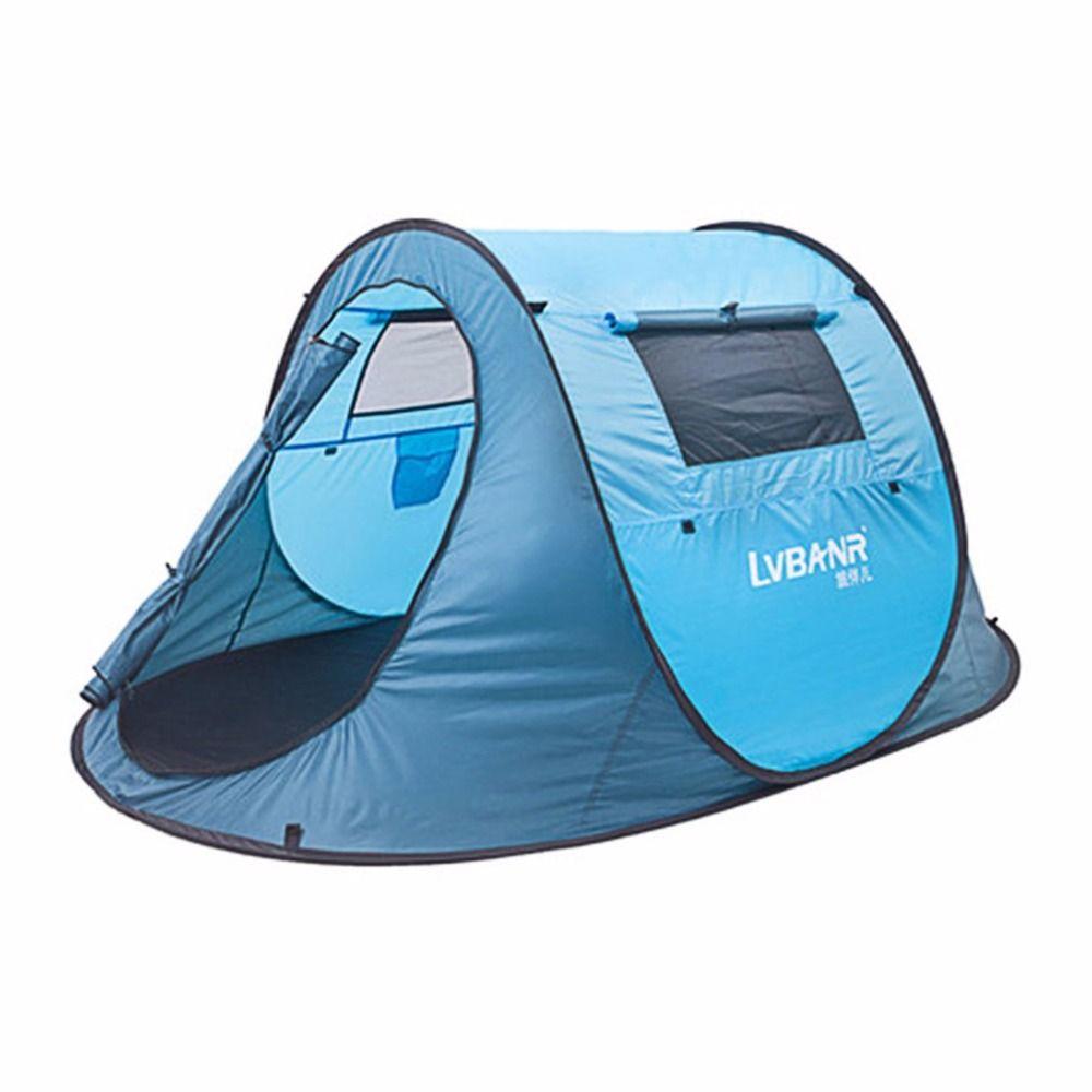 Schnell Automatische Eröffnung Wasserdichte 210 T Polyester 2 Menschen Outdoor Camping Wandern Zelt Reise Kletter Zelt Blau Kostenloser Versand