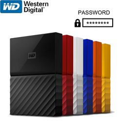 WD My Passport Eksternal Hard Drive Disk USB 3.0 1 TB 2 TB 1 T 2 T Portable Enkripsi HDD HD Perangkat Penyimpanan SATA 3 untuk Windows Mac