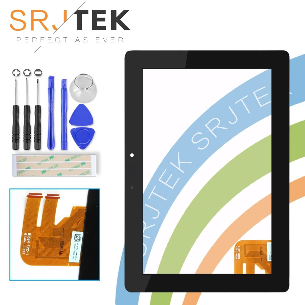Srjtek For Asus Transformer Pad TF300T TF300 tf300tg G01 <font><b>Version</b></font> Black Digitizer Touch Screen Glass 69.10I21. G01