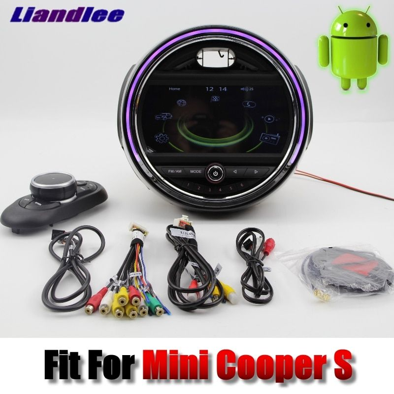 Liandlee For Mini Cooper S 2016~2018 Android system Car Multimedia Player NAVI With iDrive Button Car Radio GPS Navigation