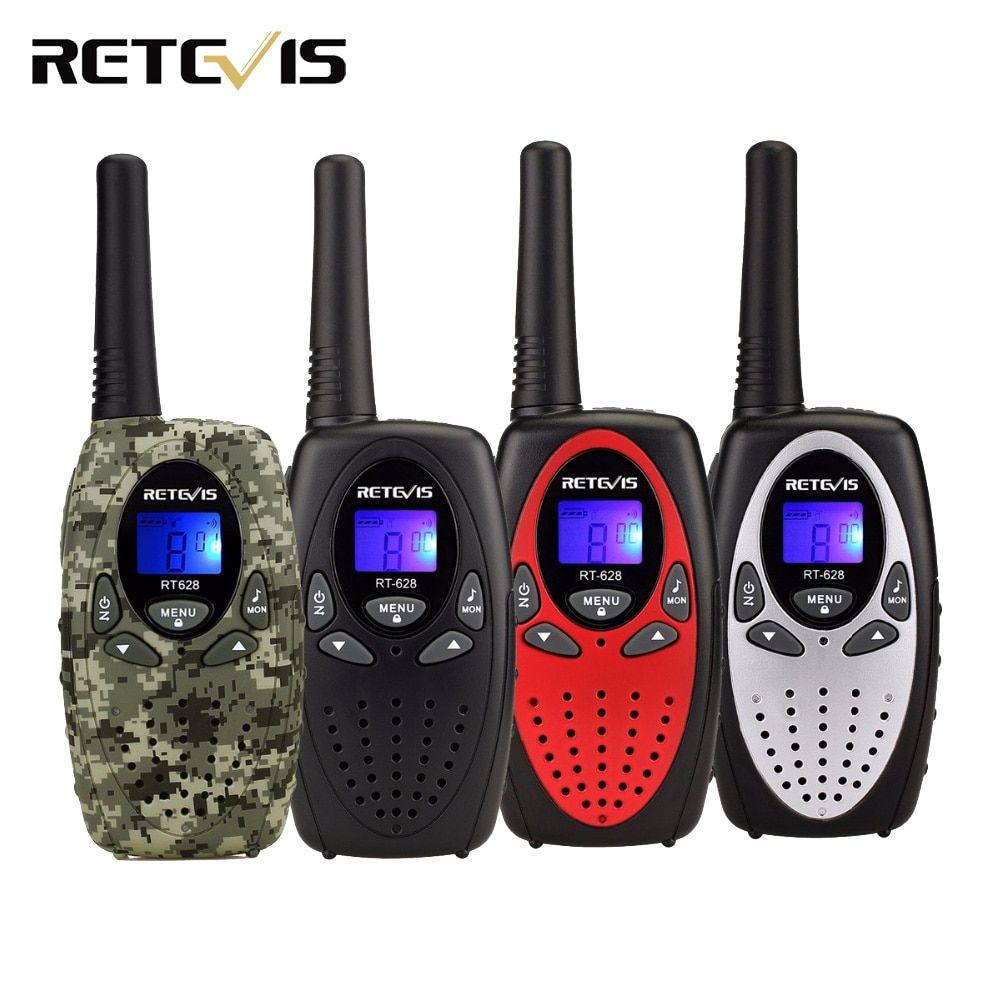 2pcs 4 Color Retevis RT628 Kids Radio Walkie Talkie Mini 0.5W UHF Frequency Portable Hf Transceiver A1026