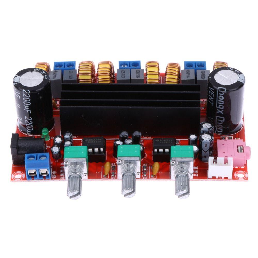 TPA3116D2 качество звука Мощность Усилители домашние доска 50 Вт * 2 + 100 Вт 2.1 канальный цифровой сабвуфер Мощность Усилители домашние доска DC12V-24V