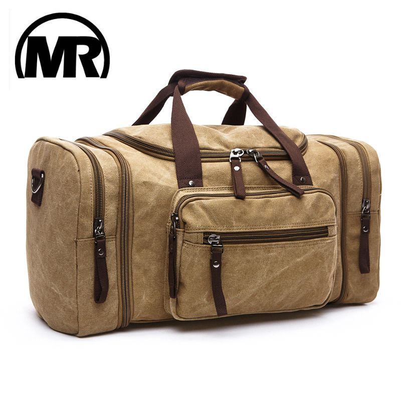 MARKROYAL Soft Canvas Men Travel Bags Carry On Luggage Bags Men Duffel Bag Travel Tote Large Weekend Bag Overnight High <font><b>Capacity</b></font>