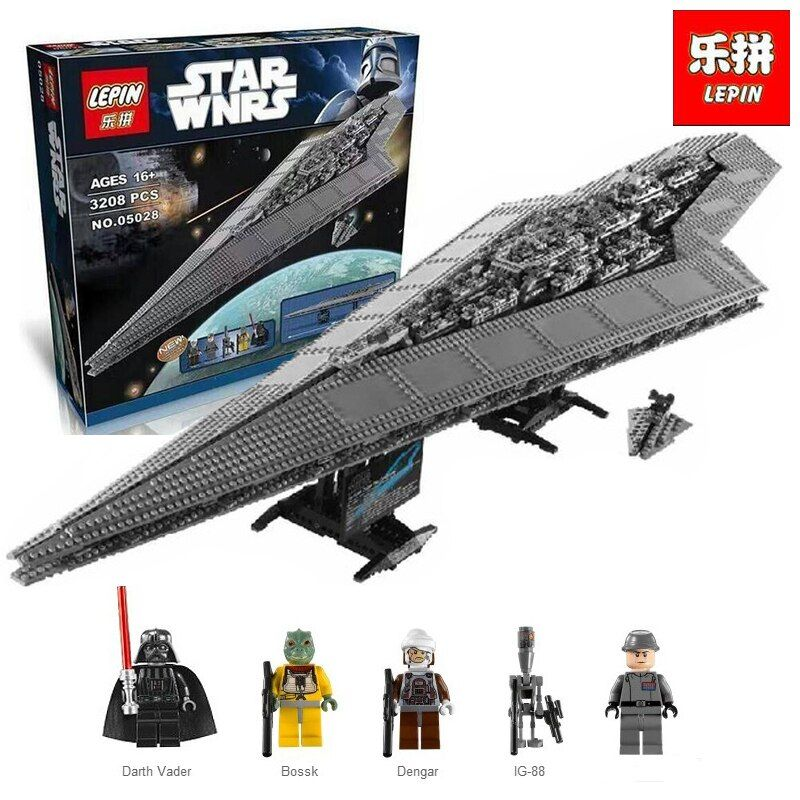 New Lepin 05028 3208pcs Star Set Wars Execytor Super Star Destroyer Model Building Kit Block Brick Toy Compatible legoing 10221