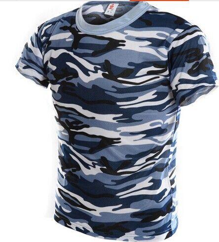 Camouflage marin désert entraînement jungle camouflage costume militaire terrain entraînement hommes à manches courtes camouflage T-shirt S-4XL