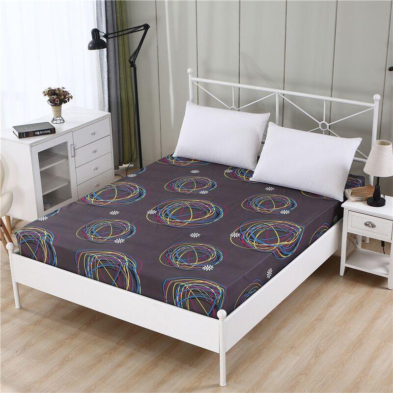 1 pc 100% Polyester drap housse matelas couverture quatre coins avec bande élastique draps de lit 90 cm * 200 cm 160 cm * 200 cm
