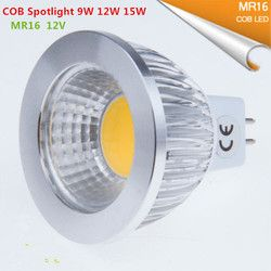 1 Pcs Super Cerah LED MR16 COB 9 W 12 W 15 W LED Bohlam Lampu MR16 12 V Hangat putih Murni Cold Putih LED Bohlam