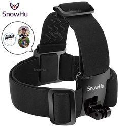 SnowHu for Head strap mount For Gopro Hero 6 5 4 3+ Xiaomi yi 4K Action Camera  For Eken H9 SJCAM SJ4000 Go Pro Accessories YX23