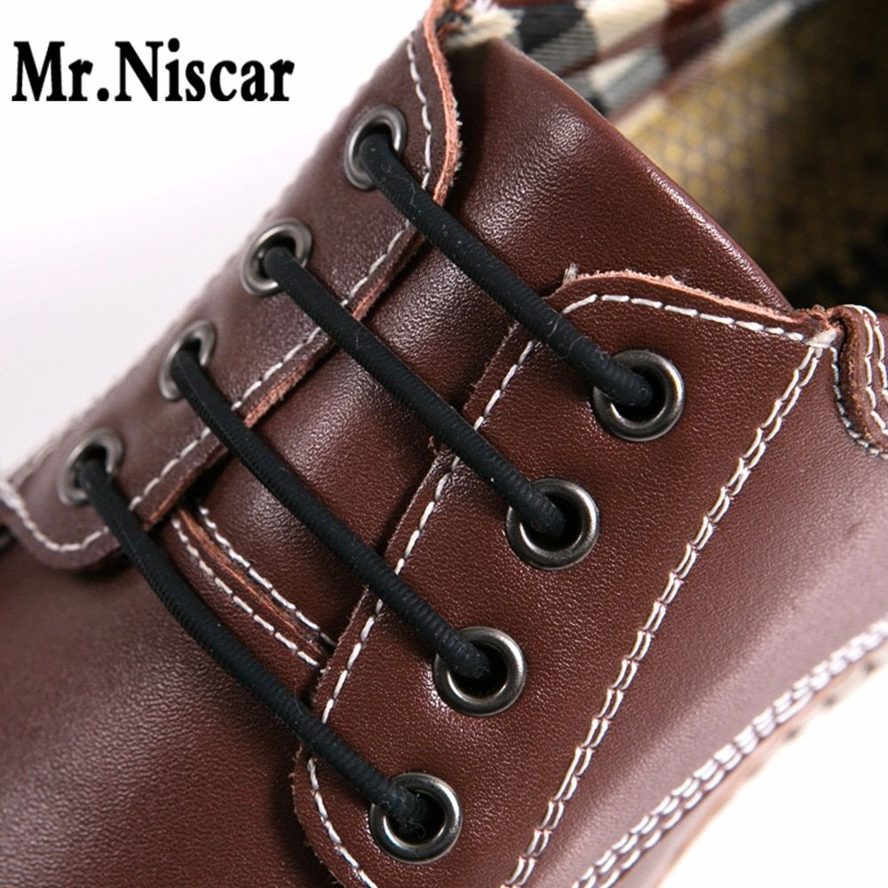 Mr. Niscar 1 Set/12 pièces pas de lacets de cravate nouveauté élastique en cuir de Silicone lacets de chaussures pour hommes femmes tous Fit sangle chaussures d'affaires