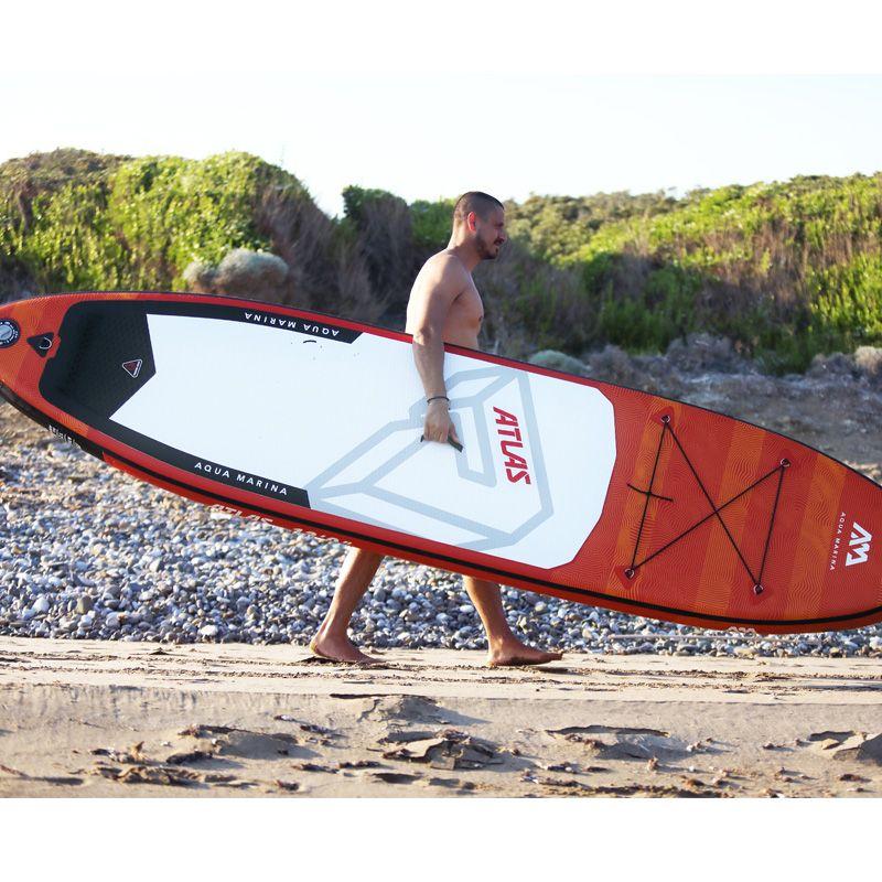 366*84*15 cm aufblasbare surfbrett ATLAS 2019 stand up paddle board surfen AQUA MARINA wasser sport sup board ISUP surf board