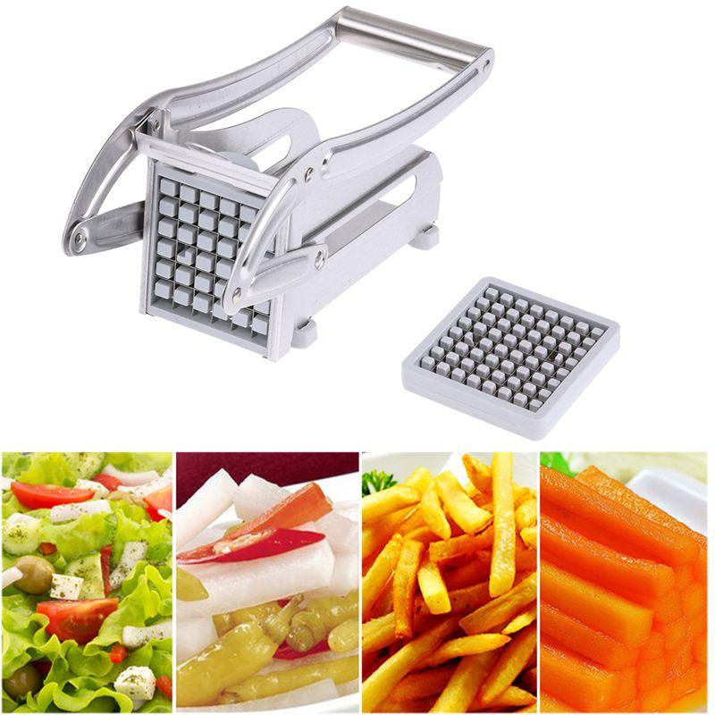 Acier inoxydable français frite Cutter pommes de terre Chips bande Cutter fabricant trancheuse Chopper cuisine outils Gadgets accessoires de cuisine