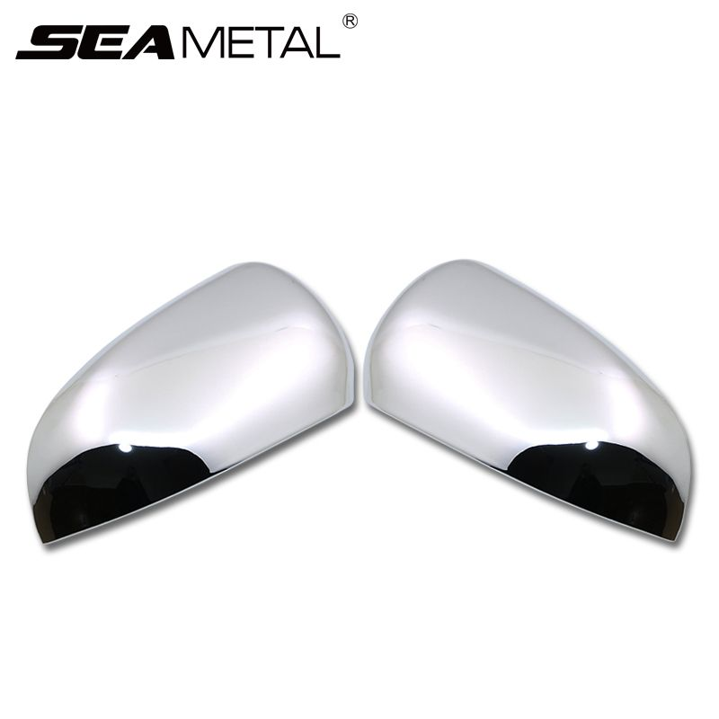2Pcs For KIA RIO K2 4 2017 Car-styling Car Rearview Mirror ABS Chrome Cover Decorative Frame Shell Case Covers Auto Accessories