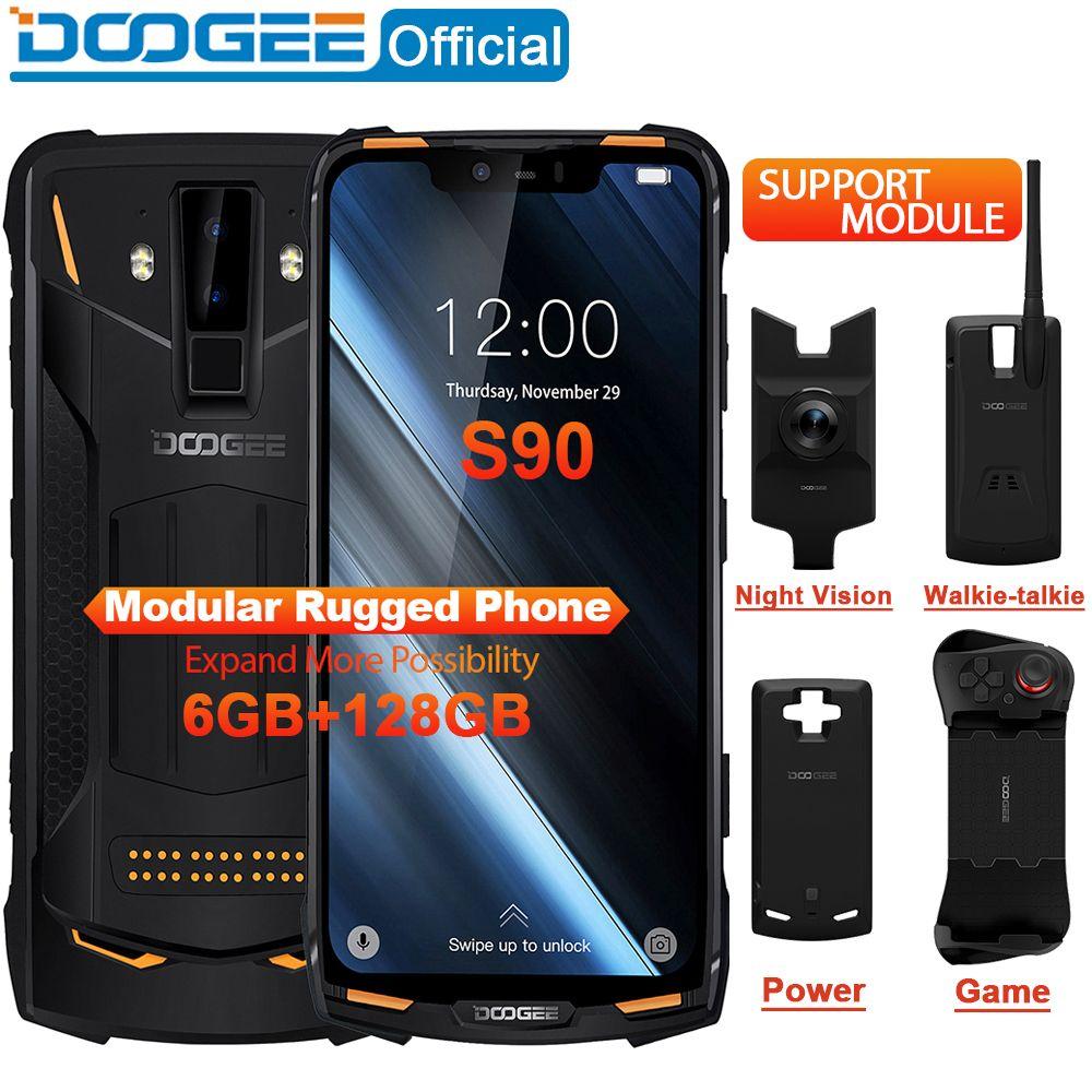IP68/IP69K DOOGEE S90 Modulare Robuste Handy 6,18 zoll Display 5050mAh Helio P60 Octa Core 6GB 128GB Android 8.1 16,0 M Cam