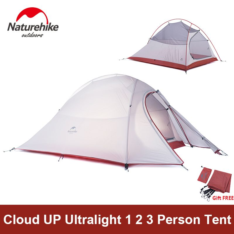 Naturehike <font><b>Tent</b></font> Camping <font><b>Tent</b></font> Ultralight 1 2 3 Person Man 4 Season Double Layers Aluminum Rod Outdoor Travel Beach <font><b>Tent</b></font> With Mat