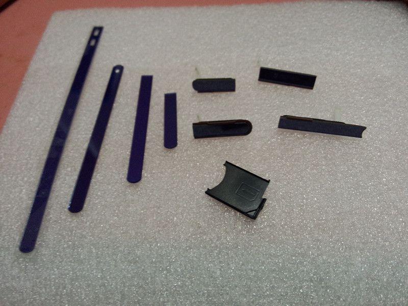 Nuevo lado tira Cap botón lateral + tapones + caja de la ranura de la tarjeta de SIM para Sony Xperia Z L36H c6603 C6602 L36G