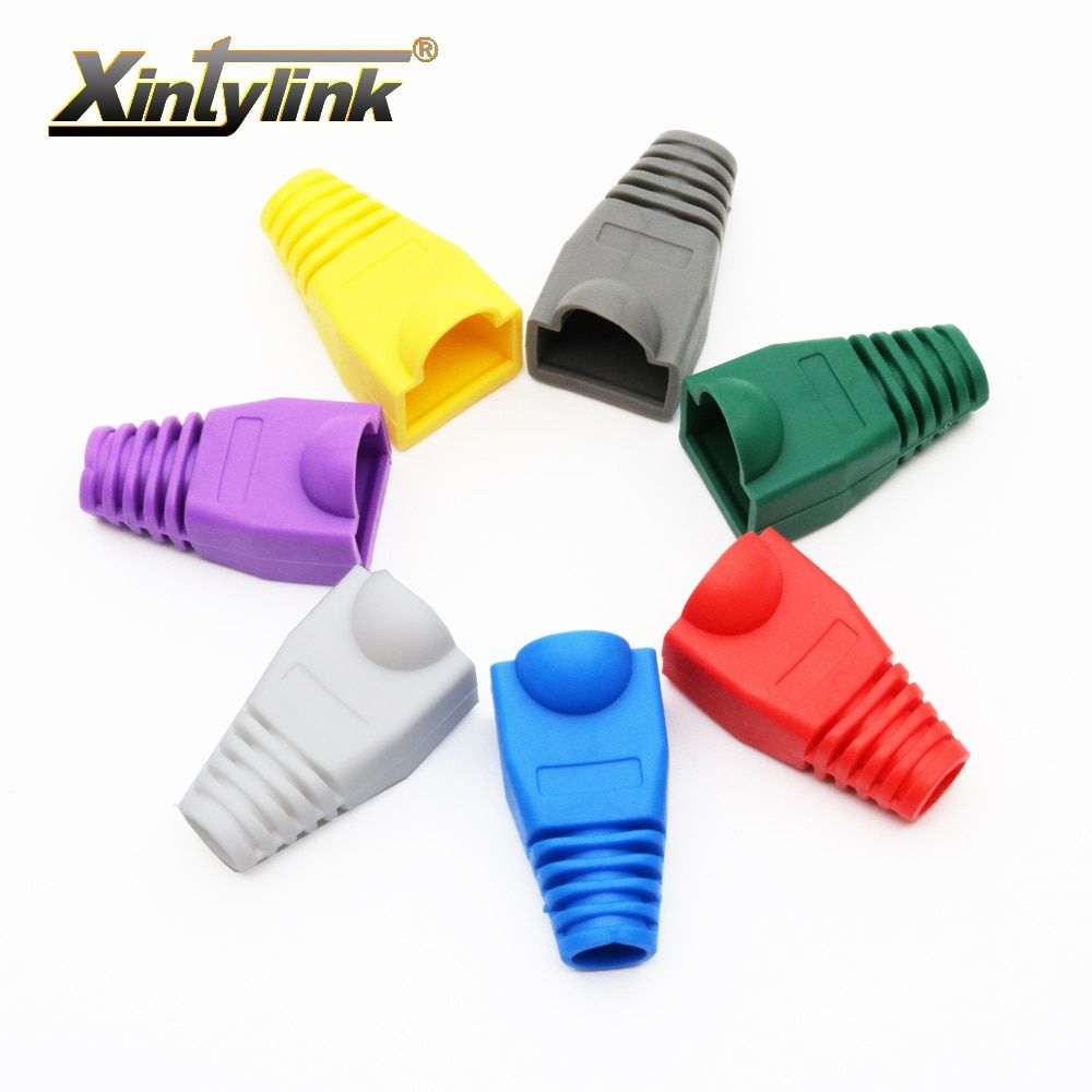 xintylink rj45 caps cat5 cat5e cat6 network boots ethernet cable connector rj 45 sheath cat 6 protective sleeve multicolour
