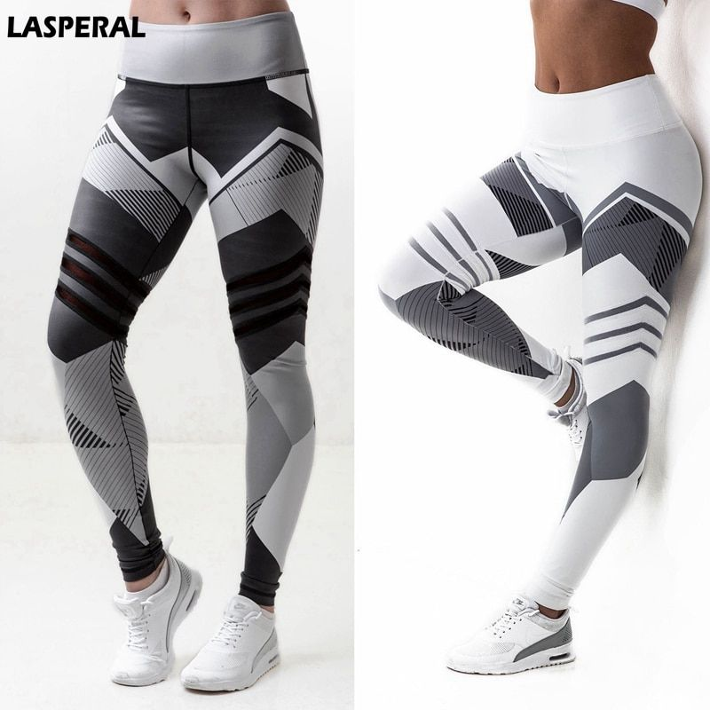 LASPERAL Fitness Women Yoga Pant New Print Tight Crossfit Athleisure Trouser Sportswear Running Pant Sports Legging Plus Size