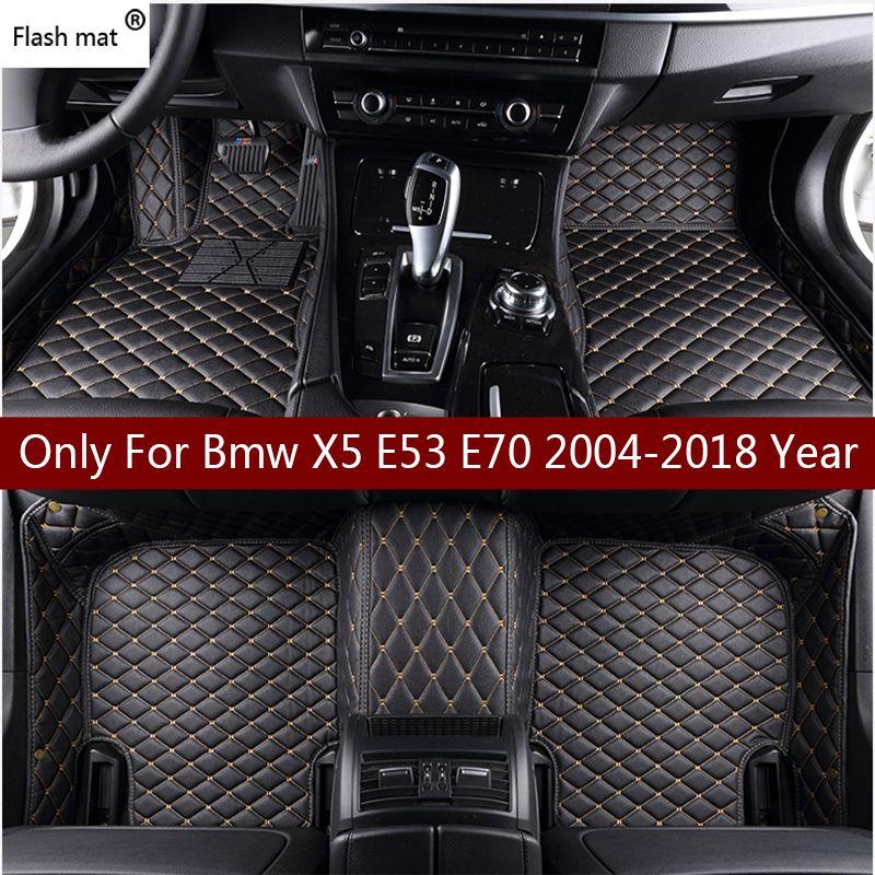 Tapis de sol Flash en cuir pour Bmw X5 E53 E70 2004-2013 2014-2016 2017 2018