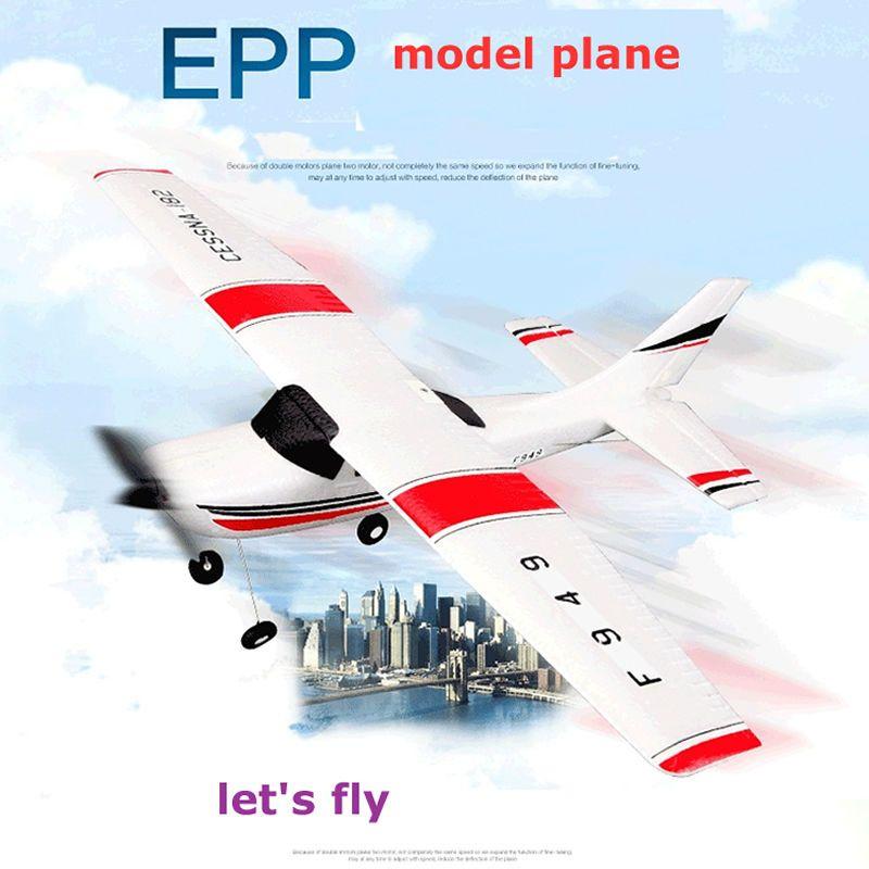 Wltoys F949 CESSNA-182 3 canaux 2.4G contrôle avion RC avion EPP modèle avion RTF 3 sans noyau moteur extérieur Drone enfants FSWB