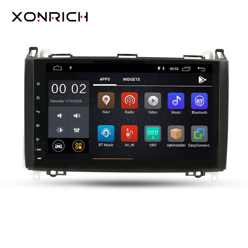Xonrich Auto Multimedia-Player GPS Android 8.1 2 Din DVD Automotivo Für Mercedes/Benz/Sprinter/B200/B -klasse/W245/B170/W169 Radio