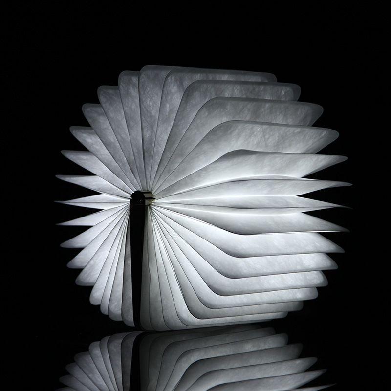 2017 Nuevo Diseño Flip Books LED Recargable Plegable Libro Luz de Noche Lámpara de Pared Lámpara de Cabecera Decorativa-M25