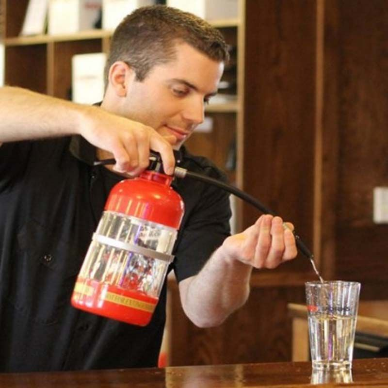 1set Fire Extinguisher Shape Water Beer Dispenser Alcohol Liquid Soft Drink Beverage Dispenser Machine Water Bottles Bar Tools