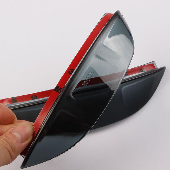 Déflecteur automatique de bouclier de pluie de miroir de vue arrière pour Volkswagen Tiguan 2008-2015, ABS, 2 pcs/lot, style de voiture