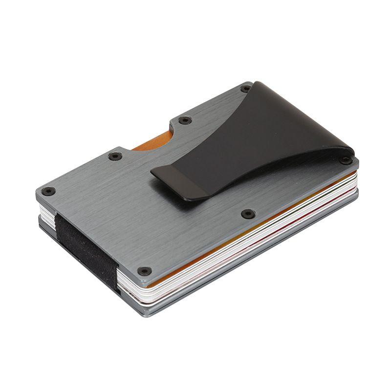 Минималистский тонкий бумажник RFID Блокировка кредитные карты держатель передний карман кошелек для Для мужчин и Для женщин с зажим для ден...