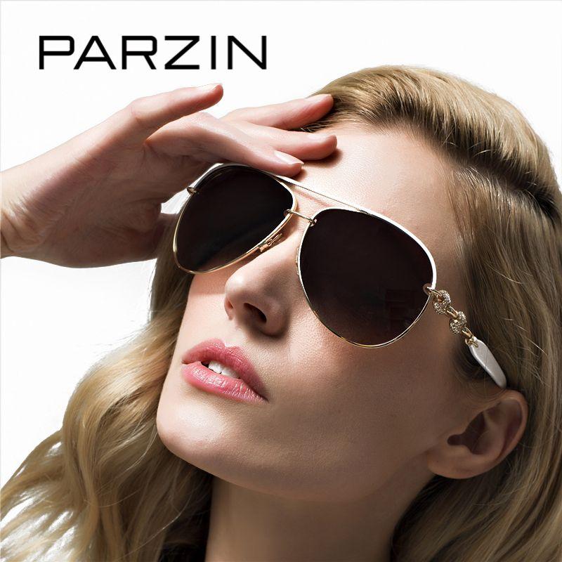 PARZIN 2017 Luxury Diamond Polarized Women Sunglasses Elegant Brand Designer Clear Sunglasses For Driver Women Pilot Eyewear