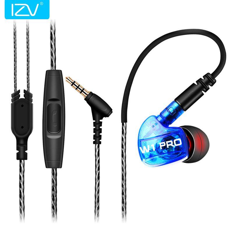 IZV SG-W1 Pro Dans L'oreille Stéréo Écouteurs HIFI Deep Bass Écouteur Sport Étanche Écouteurs Avec Micro + Détachable Câbles In-Ear