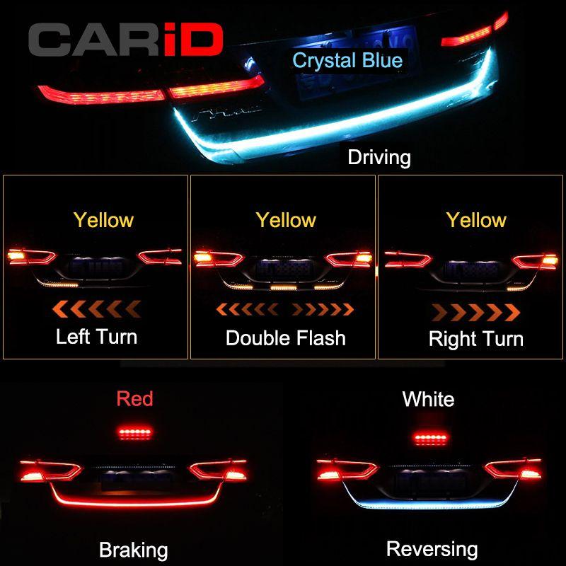 CARiD Trunk Strip Light LED Car Dynamic Streamer Tail Lights For Mitsubishi ASX Outlander Cross Sport Eclipse Mirage G4 Pajero