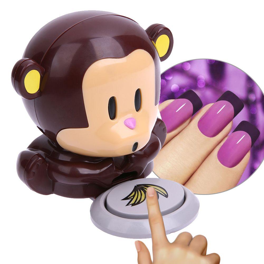 1 Unids Mini Historieta Linda Del Mono Secador de Uñas Mano Finger Toe Nail arte Gel Secador de Uñas de Arte Polaco Secador Del Ventilador Soplador De Aire herramientas