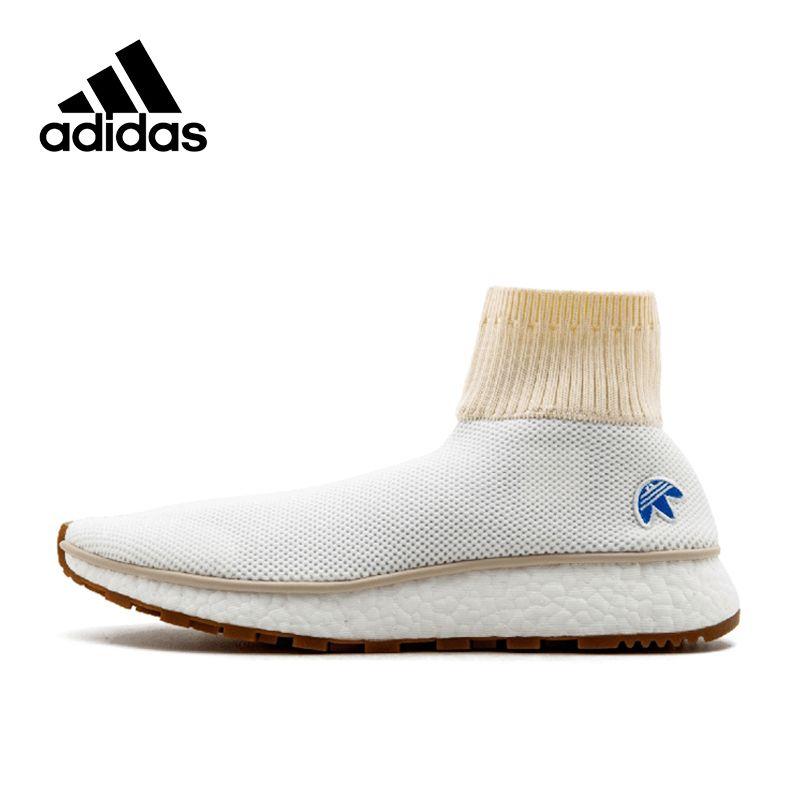 Новое поступление аутентичные Adidas x Alexander Wang Run дышащей Для Мужчин's Кроссовки спортивные Спортивная обувь