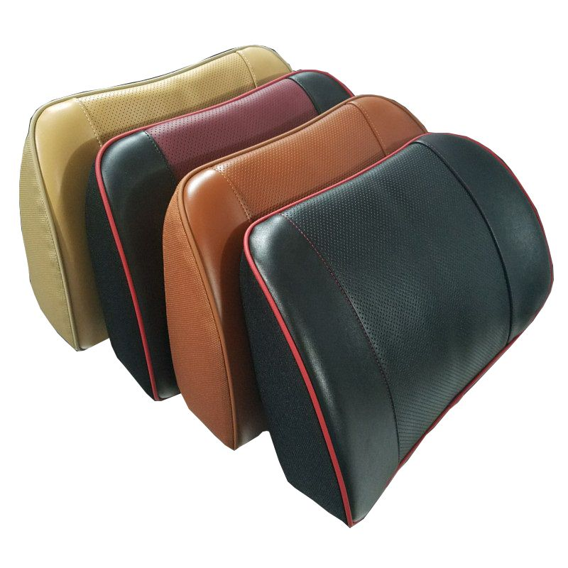 Real Leather Seat Support Car Lumbar Cushion Memory Foam Lower Back Support Cushion for Office Chair Computer worker driver