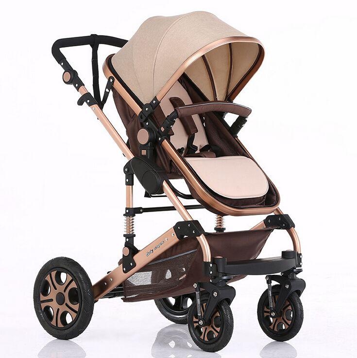 Value Baby Stroller Pram Children Pushchair Colour Beige Red Blue Pink Purple Flag