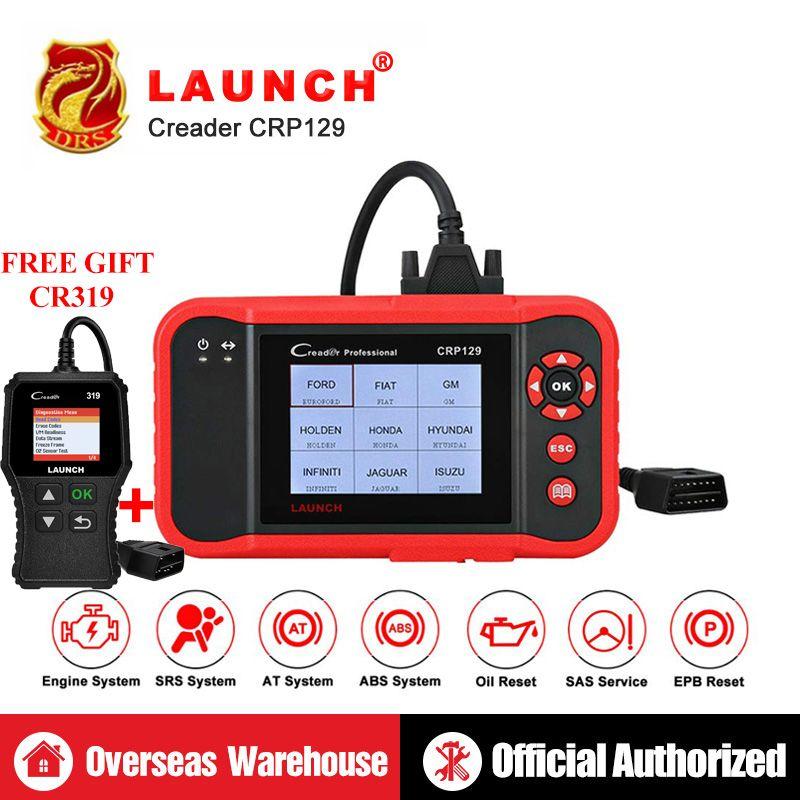 Starten CRP129 CRP 129 Creader VIII 8 Code Reader OBDII Diagnose Werkzeug ENG AT ABS SRS EPB SAS ÖL Service licht Setzt Scanner