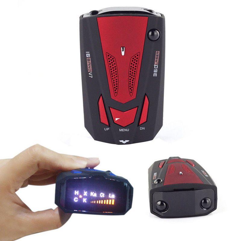 YASOKRO 360 degrés anglais/russe voiture Anti Radar détecteur pour véhicule V7 vitesse alerte vocale avertissement 16 bande LED détecteur d'affichage