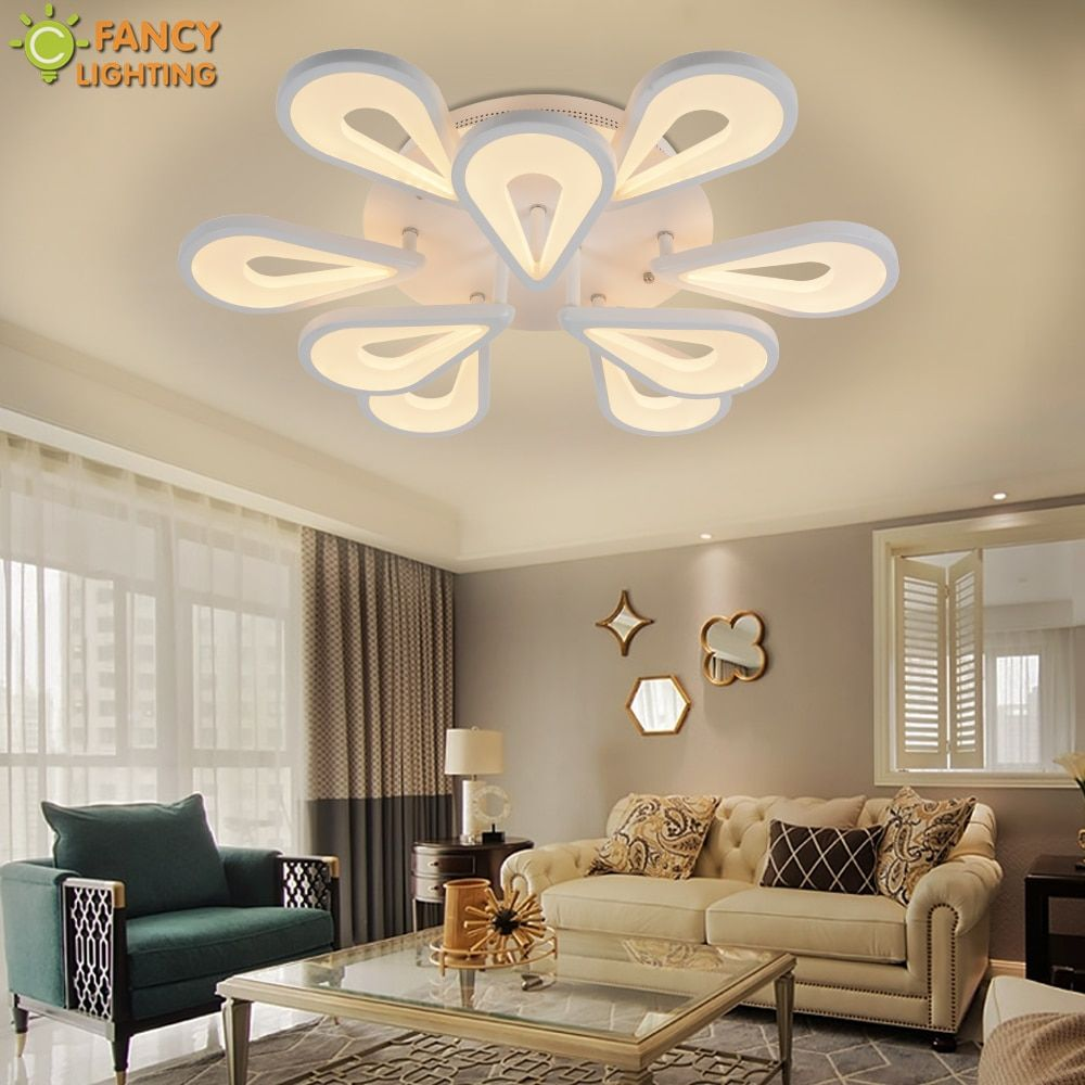 Modern Chandelier Lighting Warm/Nature/Cool White Water Drop Dimming LED Light For Bedroom/Living room/Home Decor Ceiling Lamp
