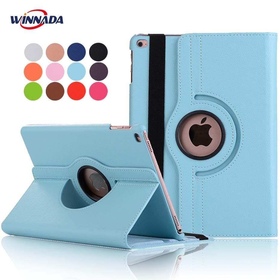 For ipad air 2 case,  lichee grain 360 degree rotate Full Body Protective Cover Flip For ipad air / For ipad 2017 cover