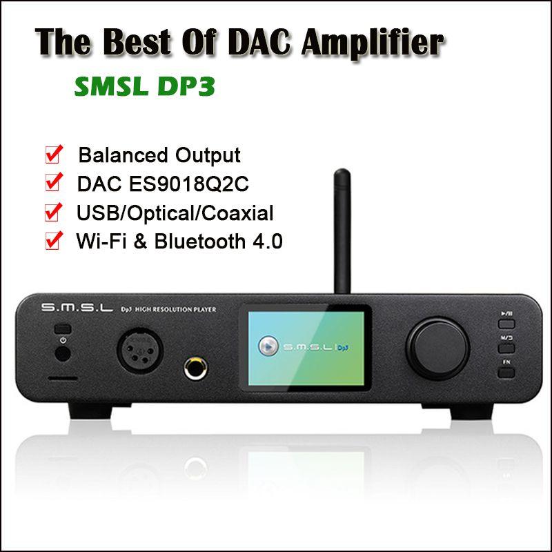 SMSL DP3 USB DAC Bluetooth Verstärker Audio Decoder ES9018Q2C Hifi Bluetooth Dac Audio Verstärker Ausgewogene DSD Digital Player Amp