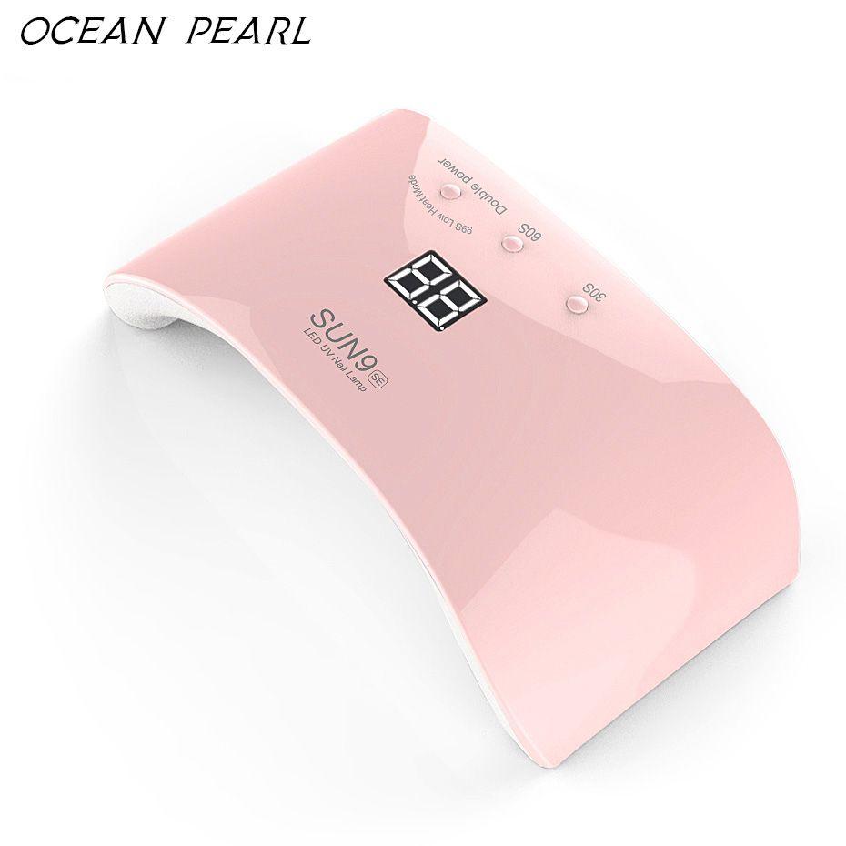 OCEAN PEARL SUN9SE LED UV <font><b>lamp</b></font> nail dryer 24W motion sensor high-tech leds Double light Nail <font><b>Lamp</b></font> UV Gel Polish Nail Art Tools